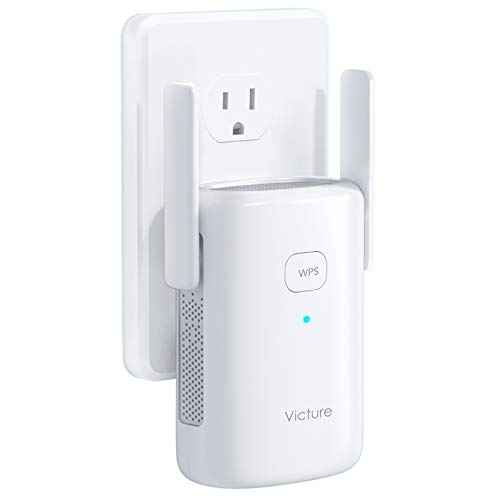Victure 1200mbps WiFi Range Extender, 2.4G&5G Dual Band WiFi Repeater, WiFi Booster with Ethernet Port, WPS, Simple Setup, Provide a Stable Network for Online Working