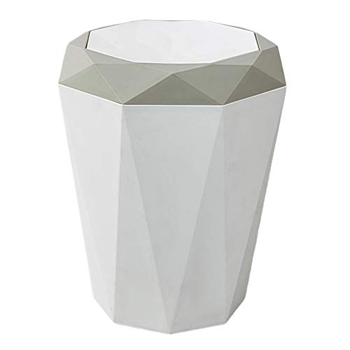 zxb-shop Garbage Bin for Kitchen, Office, Home Home Rubbish Garbage Bin Wastebasket Trash Can Dustbin Office Indoor Hotel Silent and Gentle Open and Close (Color : A)