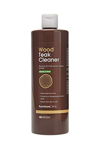 Furniture Clinic Teak Cleaner (500 ml)- Removes Dirt Build-Up From Outdoor Furniture - Wood Cleaner - Makes 3 Litres of Solution - Water-Based Formula