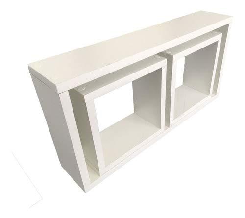 Nicho Decorativo Mdf Kit 3 Unidades 1 50x25 E 2 20x20 Cor:Branco