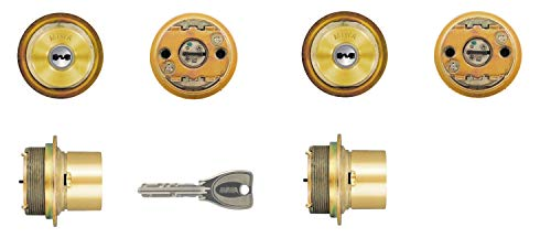 2個同一セットMIWA(美和ロック) PRシリンダー LIXタイプ 鍵 交換 取替え MCY-498 TE0 LIX