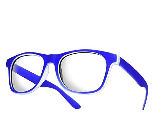 4sold - Gafas de lectura, gafas de cerca, gafas de aumento pregraduadas, desde +1,5 a +4 dioptrías Azul azul marino Talla única