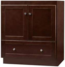 Amazon Com Ronbow Essentials Shaker 30 Inch Bathroom Vanity Cabinet Base In Dark Cherry Finish With Soft Close Wood Doors And Full Extension Drawers 080830 3 H01 Kitchen Dining