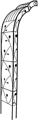 Arco Jardin Puerta Jardin Arco de Boda de Medio Lado de 250 cm, cenador de Rosas para Varias Plantas trepadoras, cenador de Hierro de Metal para césped al Aire Libre, decoración de Patio Trasero ZHE