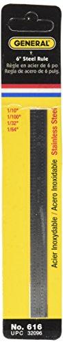 General Tools Flexible regla de borde recto industrial, acero inoxidable (616)