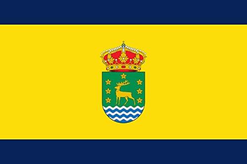 magFlags Bandera Large De Proporciones 2/3. Paño de Color Amarillo gualda | Bandera Paisaje | 1.35m² | 90x150cm