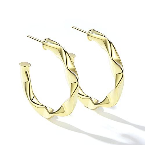 Orecchini Cerchi Aperti Leggeri Colorati Oro 18 carati - Open Hoops - Orecchini a Cerchio Placcato Oro per Le Donne Ragazze da Donna Orecchini a Bottone da Donna