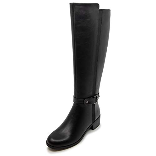 Nautica Women's Riding Boots Tall Shaft Knee High Dress Boot-Minetta-Black-7.5