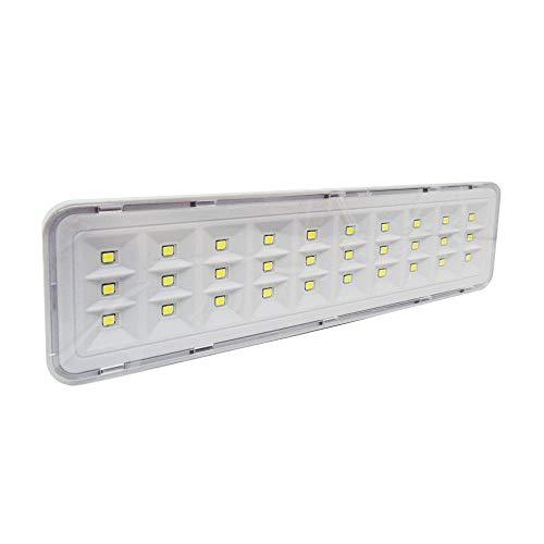 Luminária LED de Emergência Foxlux – 30 LED's – 2 níveis de fluxo luminoso – Bivolt – Autonomia de 2 a 4h – Recarregável