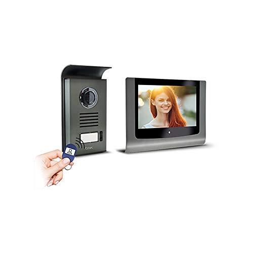 Extel – Visiophone 2 fils Levo Access – Avec contrôle d'accès sécurisé RFID (2 badges fournis)