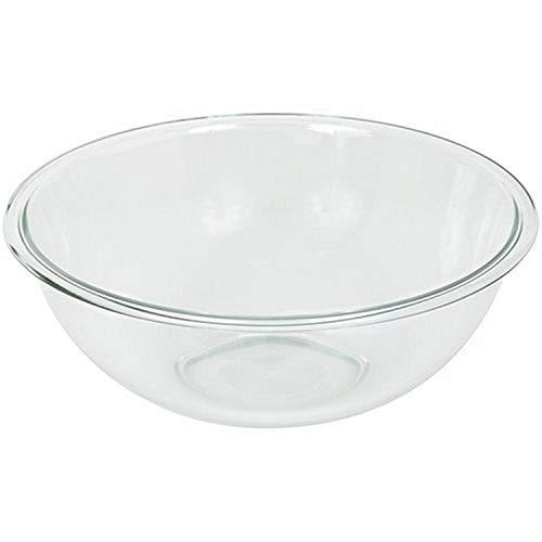 Pyrex Prepware 4-Quart Rimmed Mixing Bowl, Clear