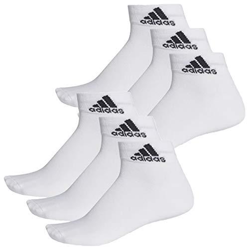 adidas 6 Paar Performance Sneaker/Quarter Socken Unisex Kurzsocke, Farbe:White, Socken & Strümpfe:46-48