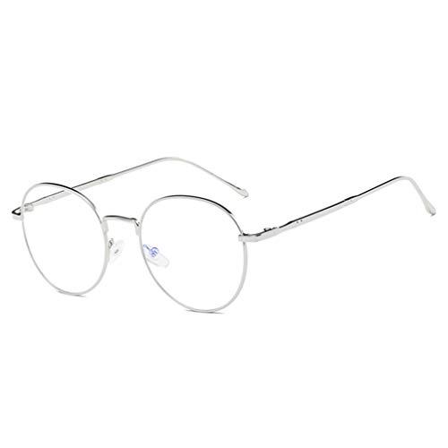 Gafas Anti-luz Azul Montura Gafas de para Unisex Hombre y Mujer con Montura de Metal-acero Fino Retro Vintage