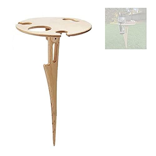 Mesa de vino al aire libre, mesa de picnic al aire libre, mesa plegable para exteriores, mesa de picnic de madera, mesa de patio, mesa para jardín, camping, picnic, playa