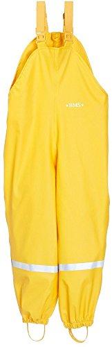 BMS Buddelhose Matschhose Regenhose PU Flexx GELB mit Trägern (140, gelb)