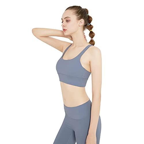 Baobaoshop Ropa De Yoga Traje De Fitness Sin Costuras Traje De Yoga Para Mujer Ropa Deportiva Leggings De Cintura Alta + Sujetador Propenso Traje De 2 Piezas M Azul Claro