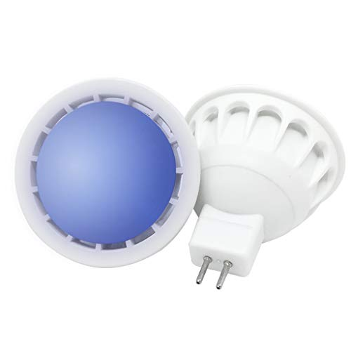 YAYZA! 4er-Pack Premium MR16 GU5.3 6W Dimmbarer 12V DC LED-Punktstrahler COB Glühbirne 60 Grad breiter Lichtstrah Lampe Farbe Blau