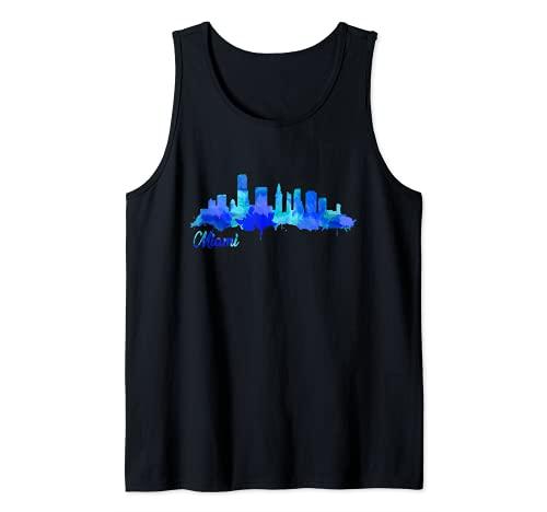 Skyline de la Floride de Miami City Débardeur