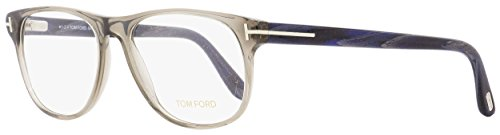 Tom Ford Oval Eyeglasses TF5362 020 Opal Gray/Blue Horn 55mm FT5362
