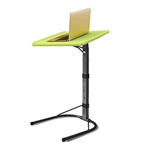 LAMXF-Tables consoles Vert Portable Type C Care Table Taille Réglable Ordinateur Portable Plateau Amovible Ordinateur Support Support Fixable Table Portable Table En PVC Matériel Bureau pour Canapé /