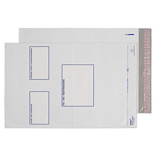 Blake Polypost Polytheen Mailing Tas Enveloppen Peel & Seal Wit   Bedrukt C3+ 330 x 430 mm   100 Pack Kleur: wit