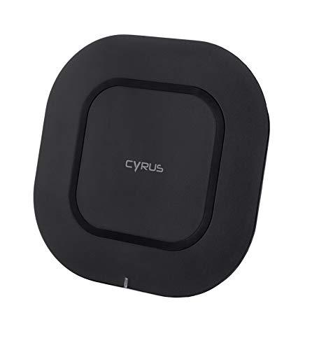 Cyrus Original Induktive Schnellladestation, Universal, geeignet für alle Qi Fähigen Smartphones und Endgeräte die mit 5W oder 10W geladen Werden können, USB-C, schwarz