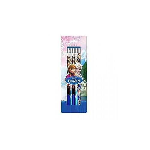 paquet de 5 crayons à papier avec gomme La Reine des Neiges