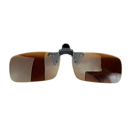 WFZ17 Sonnenbrillen-Clip, polarisierte Linse, blendfrei, UV-Block, zum Anklipsen S braun
