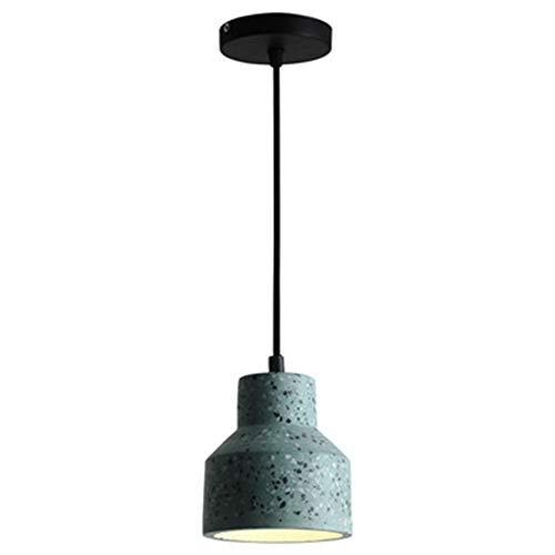 TopDeng Vintage Industriale Cemento Lampade A Sospensione, E27 Variopinto Mini Calcestruzzo Lampada Plafoniera Per Ristorante Bancone Bar Decorazione Lampade-verde 13x14cm