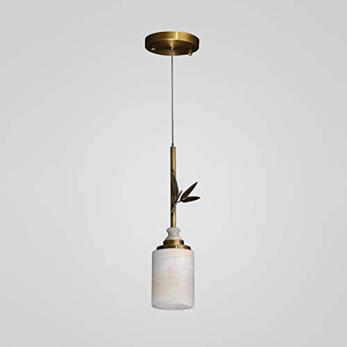 Moderno Lámparas de araña Estilo Chino Dormitorio lámpara de cabecera del Pasillo del pórtico Corredor Zen Chino Estilo de la Hoja del Jade de una Sola Cabeza pequeña araña Iluminación Colgante