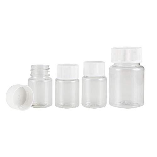 XIAONAN 30ml x 50 Pack Leere Plastikflaschen Reagenzflasche Wasserbehälter Liquid Pipette Plastikware mit Abdeckung Flaschen Großhandel