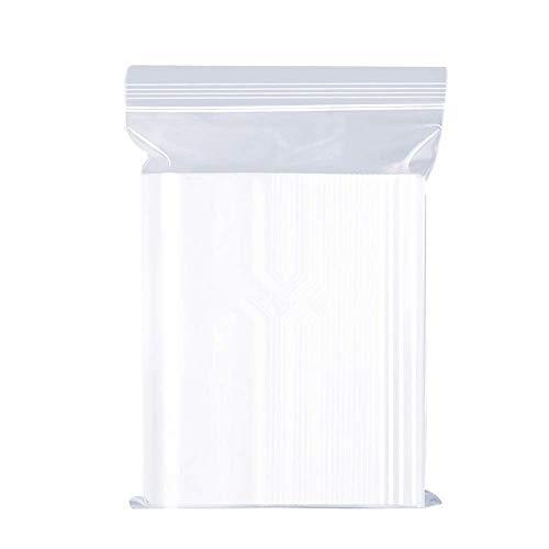 Sacs en plastique transparents refermables, sac scellé, sac de rangement, 8X12cm 100pcs, épaississement durable, s'appliquent aux ménages articles divers/rangement cuisine/scellé de vêtements etc.