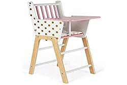 professional High Chair Janod Candy Chic – Wooden Chair for Dolls – Great for Kids Role Play for Moms and Me –…