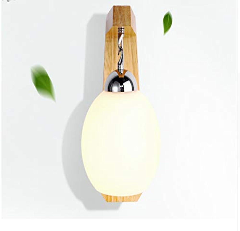 Aussenlampe Wandbeleuchtung Wandlampe Wandleuchte Innen Einfache Hlzerne Wandlampe Für Restaurant-Bar-Schlafzimmer-Nachttreppe-Gang-Glasnacht