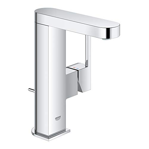 GROHE 23956003 Plus Single-Handle Bathroom Faucet M-Size, Starlight Chrome