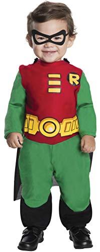 Teen Titans Robin Jumpsuit, Robin Print, 6-12 Months Costume