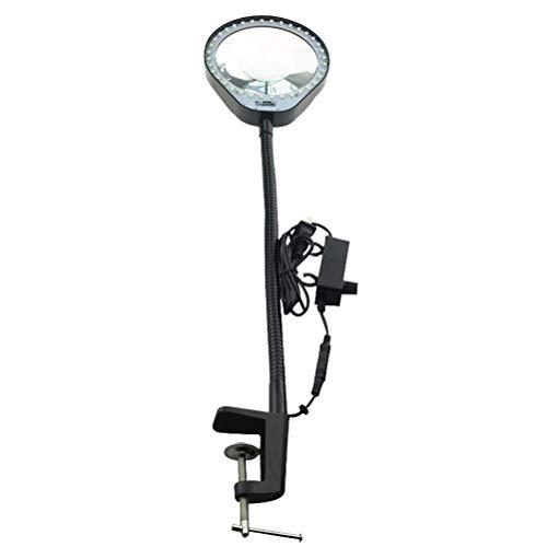 LED clip type 8X Lampe Loupe grossissante bouton réglable gradation pour la lecture des personnes âgées, réparation électronique, beauté Tattoo
