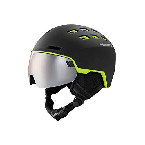 HEAD Radar, Casco da Sci e Snowboard Unisex-Adulto, Nero Lime, XL XXL