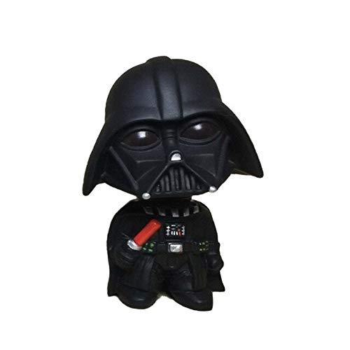 Adorno Para Coche Mini Darth Vader Negro Stormtrooper Blanco Modelo Star Wars Figura De Acción Muñeca Interior Del Coche Decoración ParaAutomóviles RegaloNegro