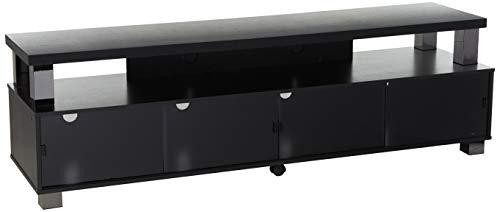 Hot Sale B-003-RBT Bromley 75-Inch 2 Tier TV Bench, Ravenwood Black