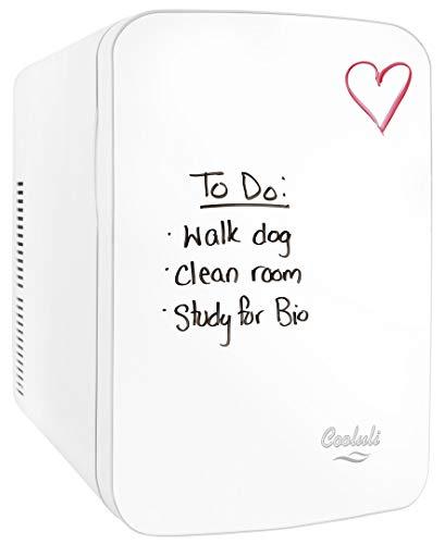 Cooluli Vibe 15 litros, refrigerador portátil compacto para dormitorio, oficina, dormitorio, coche, ideal para productos del cuidado de la piel y cosméticos (110-240V/12V),...