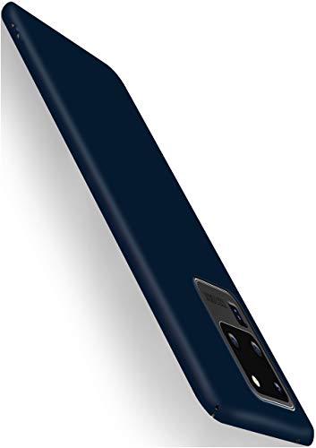 moex Alpha Hülle für Samsung Galaxy S20 Ultra / 5G Hülle Stoßfest & Leicht Handyhülle Extra Dünn, Super Slim Schutzhülle Ultra Air Hybrid PC Hardcase aus Kunststoff - Matt Blau