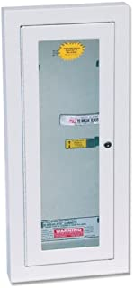 Kidde Semi-Recessed 5-Pound Fire Extinguisher Cabinet with Lock | Model 468046
