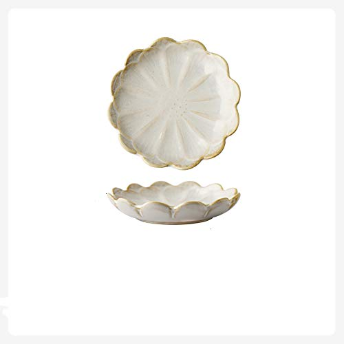 Zelevii Jewelry Tray, Ceramic Ring Dish Jewelry Organizer, Gifts for Women Mom Best Friend Daughter Friendship Sister for Office Home Decoration Gifts (White)