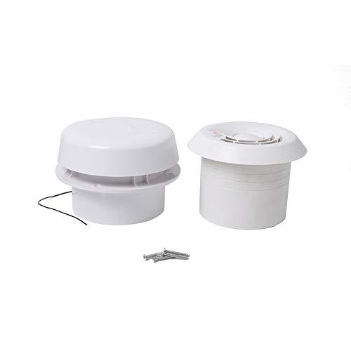 12V RV Ventilador de techo Ventilador superior Ventilación de flujo de aire Seta Cubierta blanca Tapa de tapa Impermeable Reemplazo universal para caravana Remolque Autocaravana Cúpula de humo