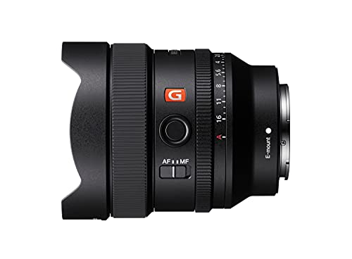 Sony SEL-14F18GM - Obiettivo Ultra Grandangolare a Focale Fissa 14mm F1.4, Serie G-Master, Mirrorless Full-Frame, Attacco E, Nero