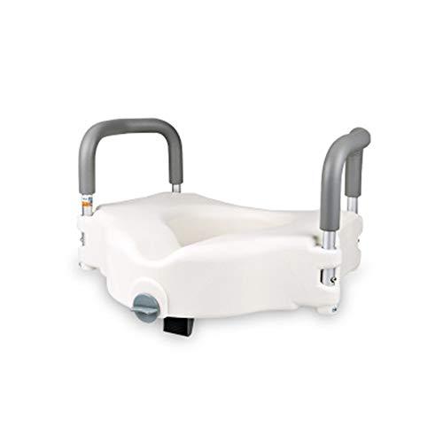 NACHEN Siège De Toilette Surélevé avec Main Courante Portative pour Personnes Handicapées Et Âgées