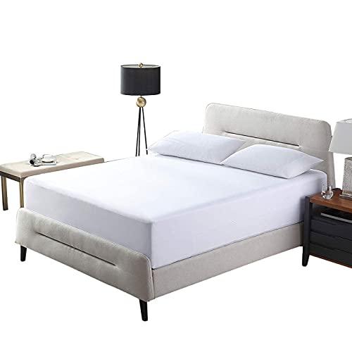 BOLO Sábanas de cama extraprofundas de algodón de calidad de hotel, 140 x 200 cm+30 cm