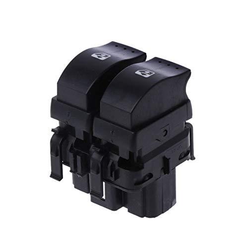 YuQiLin Interruptor de Control eléctrico de la Ventana del automóvil del botón Doble/Ajuste para -Renault Clio II /