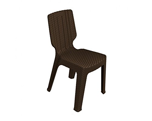 Keter - Silla de jardín exterior T-chair, Color marrón